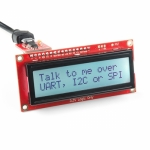 [로봇사이언스몰][Sparkfun][스파크펀] SparkFun 16x2 SerLCD - Black on RGB 3.3V lcd-14072