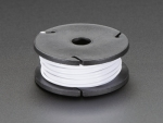 [로봇사이언스몰] [Adafruit][에이다프루트] Stranded-Core Wire Spool - 25ft - 22AWG - White id:2997